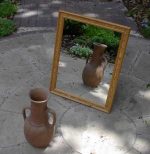 mirror reflects